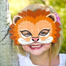 Mask Templates For Adults Best Lion Mask Printable Animal Masks Childrens Party PDF Halloween Etsy