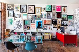 eclectic home office. eclectic home office with new york used wall thin brick veneer high ceiling chromed r