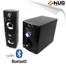 hug h28 257 subwoofer speaker w usb slot bluetooth built in