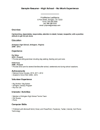 Resume Templates For No Job Experience New New Example A Work Resume