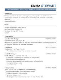 Shift Manager Resume Awesome Best Slot Shift Manager Resumes ResumeHelp