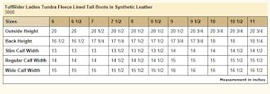 Details About Tuffrider Ladies Tundra Fleece Lined Tall Boots In Synthetic Leather