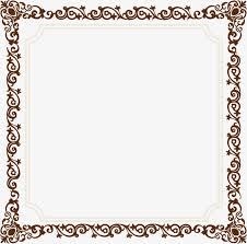 vintage frame border. Old Vintage Border Frame Vector Material Png, Ancient Box, Frame, Png F