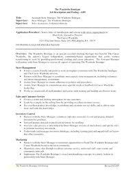 Store Clerk Resume Grocery Cashier Manager Job Description Example