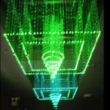 hotel lobby and bar lighting colorful led fiber optic chandelier
