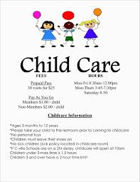 Free Printable Daycare Flyers Home Daycare Flyers Ideas Johnson Administration Design