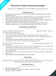 Resume Of Trainer Zumba Instructor Resume Description Fitness Sample For Personal