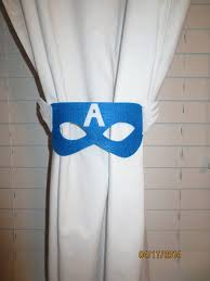 these captain america inspired tie backs add a touch of character to your little superheros room