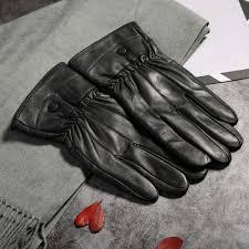 ซ อท ไหน 2018 winter men warm fleece gloves genuine sheep leather gloves men driving leather gloves mittens male outdoor guantes ในประเทศไทย