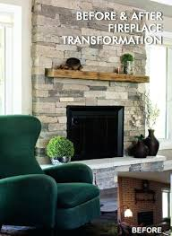 how to cover a brick fireplace with stone veneer refacing a brick fireplace with stone veneer how to cover