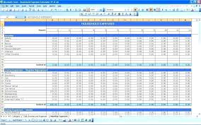 Personal Expenses Worksheet Household Expense Sheet Template