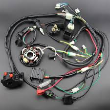 detail feedback questions about buggy wiring harness loom gy6 engine high quality complete electrics all wiring harness wire loom assembly for gy6 125cc 150cc atv quad motor parts replacement repair work