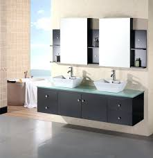 double bowl sink vanity inch modern double vessel sink bathroom vanity with tempered glass counter top