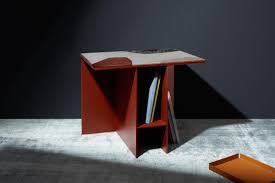 Other Kingdom Design Marble Topped Cut Out Uniform Side Table By Other Kingdom