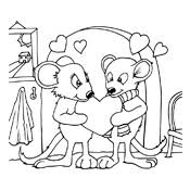 Kleurplaat Valentijn Liefde 3311