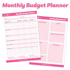 Meal Budget Planner Monthly Budget Planner Ebook