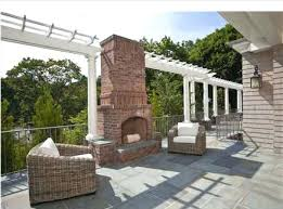outdoor brick fireplace this lovely outdoor brick fireplace is the focal point of the patio outdoor outdoor brick fireplace