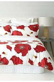 s poppy duvet cover red set