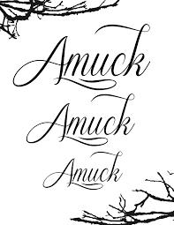 amuck amuck amuck
