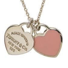 return to tiffany mini double heart tag pink enamel silver pendant nextprev prevnext