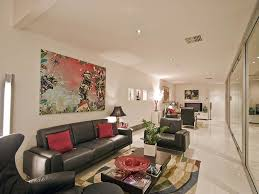 long narrow living room accent wall