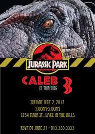 Jurassic Park Invitations Digital Jurassic Park Party Invitation By