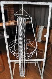 diy bead chandelier idea for home decoration 6