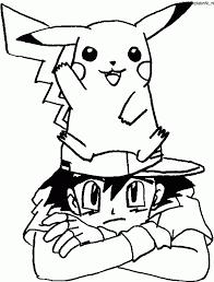 Pokemon Kleurplaat Met Ash Pikachu Kleurplaat Kleurennet