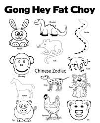 Small Picture Chinese New Year Coloring Pages Chinese Zodiac New Year Coloring