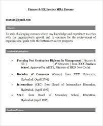 Mba Finance Fresher Resume Free Guide 28 Free Fresher Resume