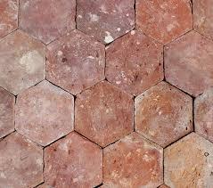 6 x6 reclaimed french terracotta hexagonal