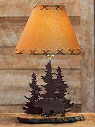 unthinkable rustic lamp shade for table bear metal canada uk chandelier nz parchment wildlife tin