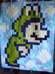 Super Mario 3 Quilts | The Mary Sue & These aren't your grandmother's quilts. Adamdwight.com