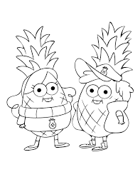 Gravity Falls Pineapples Coloring Page Disney Lol