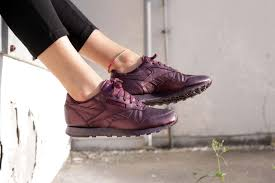reebok x face. reebok x face stockholm classic leather fashion metallic purple m