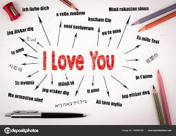 I Love You Concept Chart With Text In Different Languages