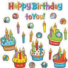 Happy Birthday Chart Decoration Dr Seuss Happy Birthday To You Mini Bulletin Board Set