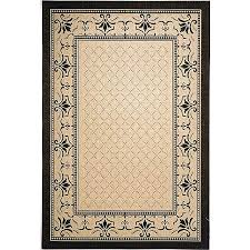 safavieh courtyard collection cy0901 3901 sand and black indoor outdoor area rug 9