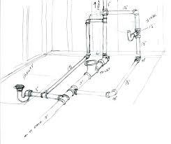 how to plumb a bathroom in a concrete slab basement bath rough in diagram bathroom plumbing