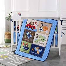 wowelife blue crib bedding sets for