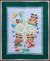 hawaiian aloha baby quilt infant nursery bedding blanket tropical wall decor gifts with aloha