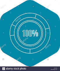 Pie Chart Over 100 Percent Pie Chart Circle Graph 100 Percent Icon Stock Vector Art