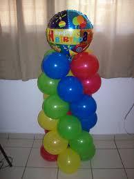 no helium balloon column