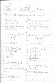 equations of parallel and perpendicular lines worksheet writing 146175