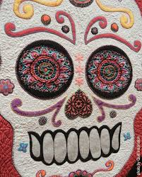 34 best Skull Quilts images on Pinterest | Artsy fartsy, Band ... & Calavera de Azucar by Penelope Harris. Photo - detail by Quilt Inspiration.  2016 Springville Adamdwight.com