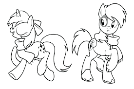 My Little Coloring Pages Ponies Picnic My Little Pony And Turtle