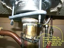 repair leaking kitchen sink strainer drain simple leak under and pipe ide repair kitchen sink garbage disposal