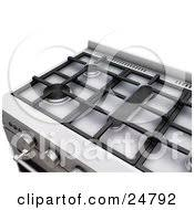 gas stove clipart black and white. clipart illustration of two burners a gas stove black and white