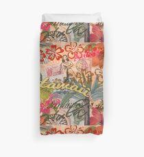 hawaiian duvet covers. Contemporary Hawaiian Vintage Hawaii Travel Colorful Hawaiian Tropical Collage Duvet Cover On Covers V