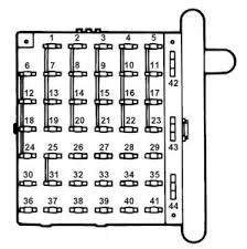 ford e series e 350 e350 1997 fuse box diagram auto genius ford e series e 350 fuse box instrument panel